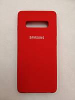 Чехол Samsung S10 Plus Silicone Original Case Red