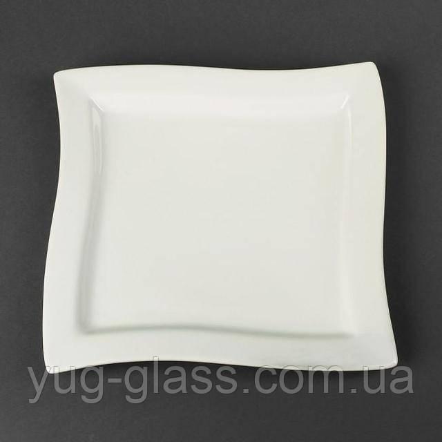 Закусочная тарелка белая