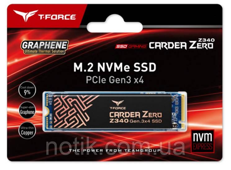 Твердотельный накопитель M.2 512Gb, Team Cardea Zero Z340, PCI-E 4x, 3D TLC, 3400/2000 MB/s (TM8FP9512G0C311)