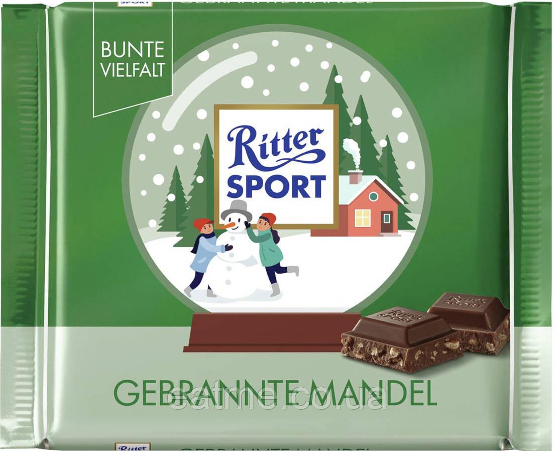 Ritter Sport Молочный шоколад с дроблённым карамелизированным миндалём
