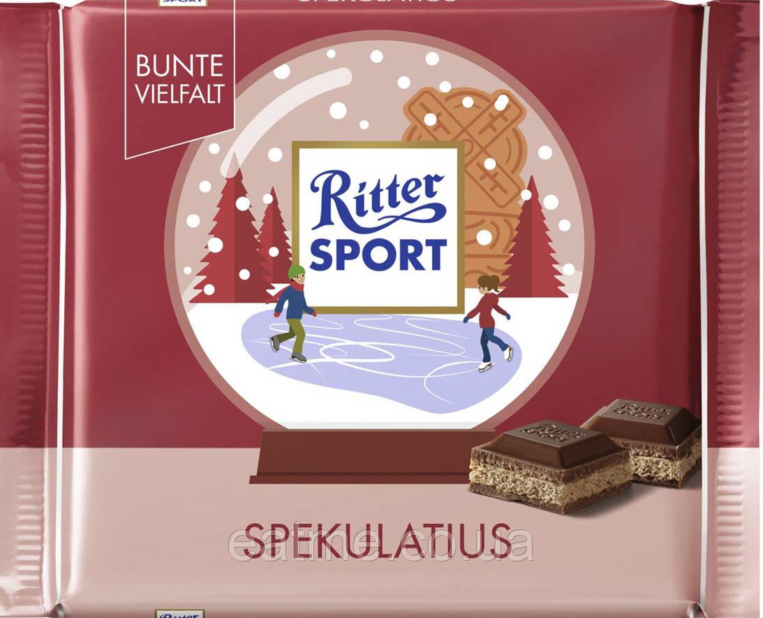Ritter Sport Молочный шоколад с имбирным печеньем