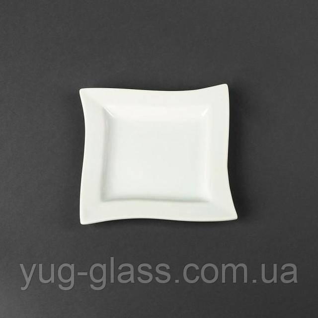 Тарілка для десерту квадратна біла