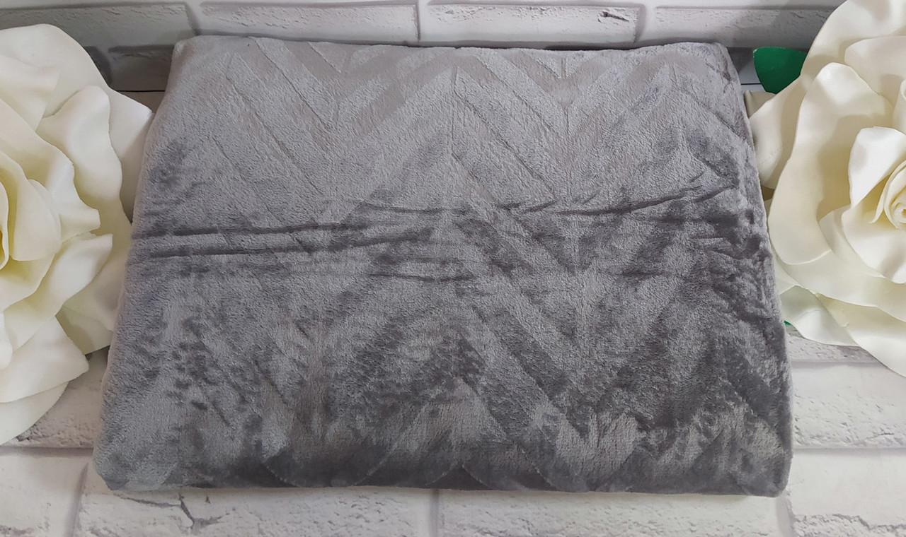 Мягкий плед покрывало 180*220 см микрофибра в подарочной упаковке двуспальный размер Bayun