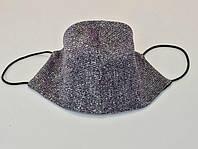 Маска многоразовая серебристо-фиолетовая