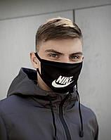 Маска мужская | женская защитная многоразовая тканевая Nike найк black черная