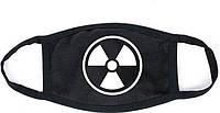 Маска мужская | женская защитная многоразовая черная радиация