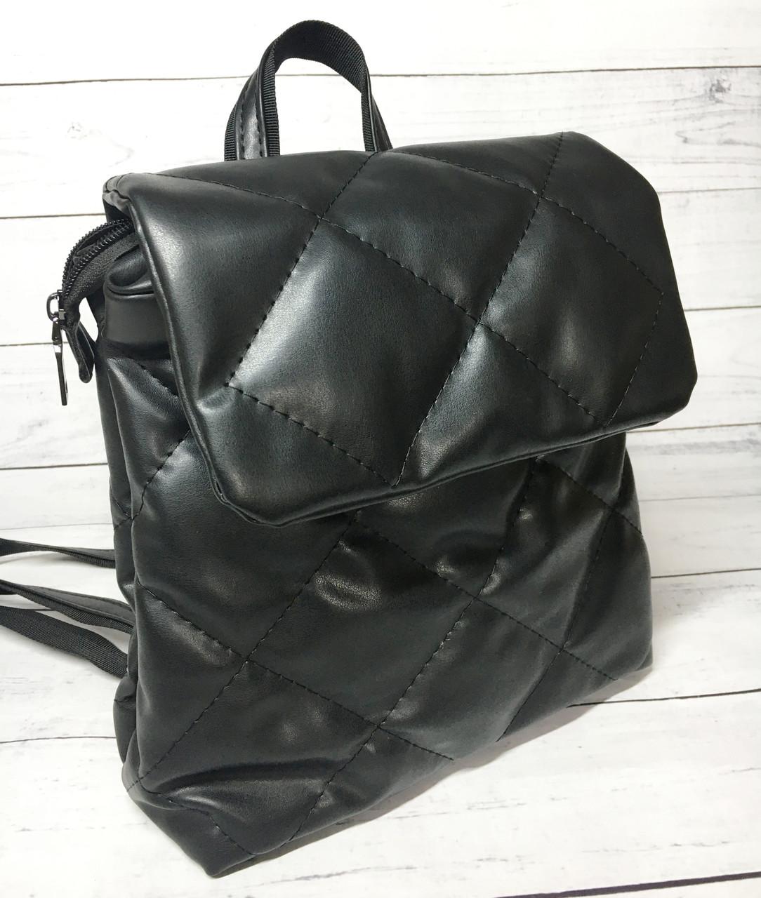 Рюкзак женский стеганный B.Elit (Би Элит), черный ( код: IBR118B )