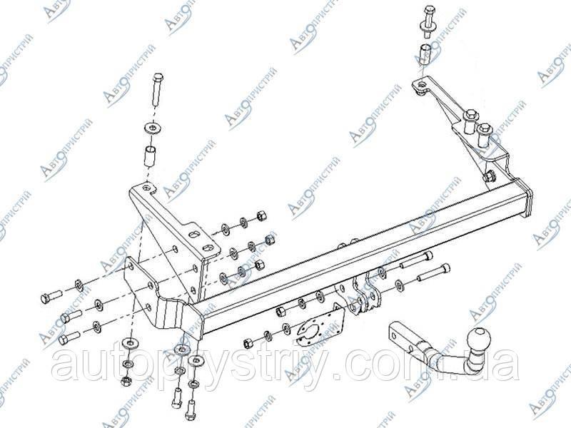 Фаркоп съемный на двух болтах Chevrolet Aveo 3 Седан Т250/255 (2008-2011)