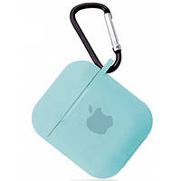 Чехол для AirPods silicone case with Logo Apple