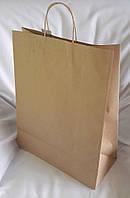 Пакет паперовий «Бурий КРАФТ» з крученими ручками 320х150х420 мм
