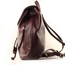 Рюкзак кожаный итальянский Casa Familia BIC0-1224 бордовый, фото 2