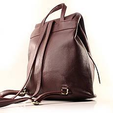 Рюкзак кожаный итальянский Casa Familia BIC0-1224 бордовый, фото 3