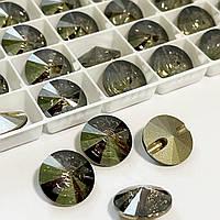 Пуговицы Сваровски 14mm Crystal Satin* 1шт