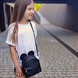 Сумка рюкзак трансформер Ушки как у мышки (черный), фото 2