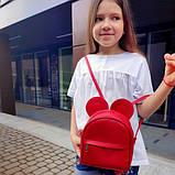 Сумка рюкзак трансформер Ушки как у мышки (красный), фото 2