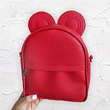 Сумка рюкзак трансформер Ушки как у мышки (красный), фото 3