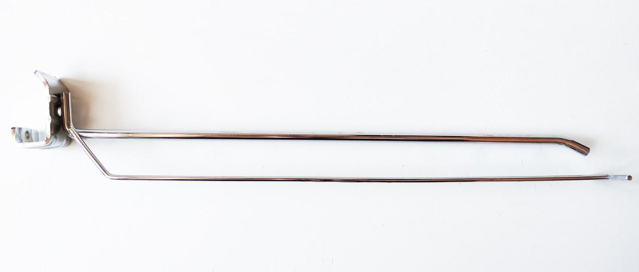 Крючок одинарный с ценникодержателем на штангу  300 мм