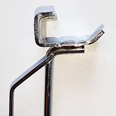 Крючок одинарный с ценникодержателем на штангу  300 мм, фото 2