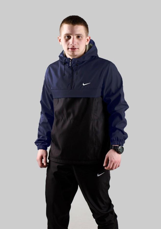 Спортивный костюм Nike мужской Найк синий черный + Барсетка в Подарок