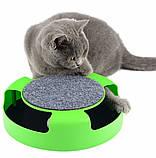 Игрушка-когтеточка для кошек Catch the Mouse Поймай мышь Зеленая, фото 6