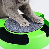 Игрушка-когтеточка для кошек Catch the Mouse Поймай мышь Зеленая, фото 7