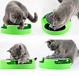 Игрушка-когтеточка для кошек Catch the Mouse Поймай мышь Зеленая, фото 8