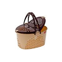 "Корзина для пикника ""Senyayla"" (2330) бежево-коричневая"