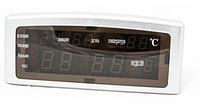 Часы цифровые настольные Caixing CX-868 зеленые