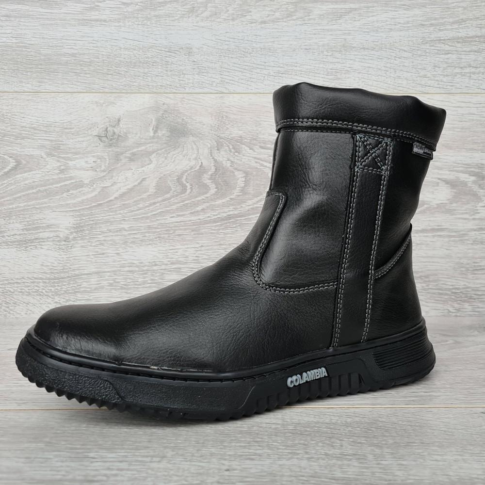 42р. Зимові чоловічі напівчоботи черевики на блискавці (СДБ-20ч)