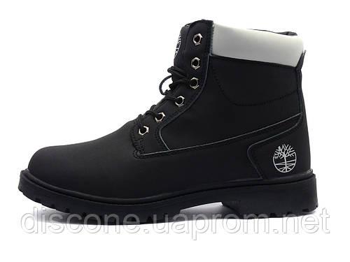 Ботинки X-time Timb, унисекс, черные, нубук, на меху