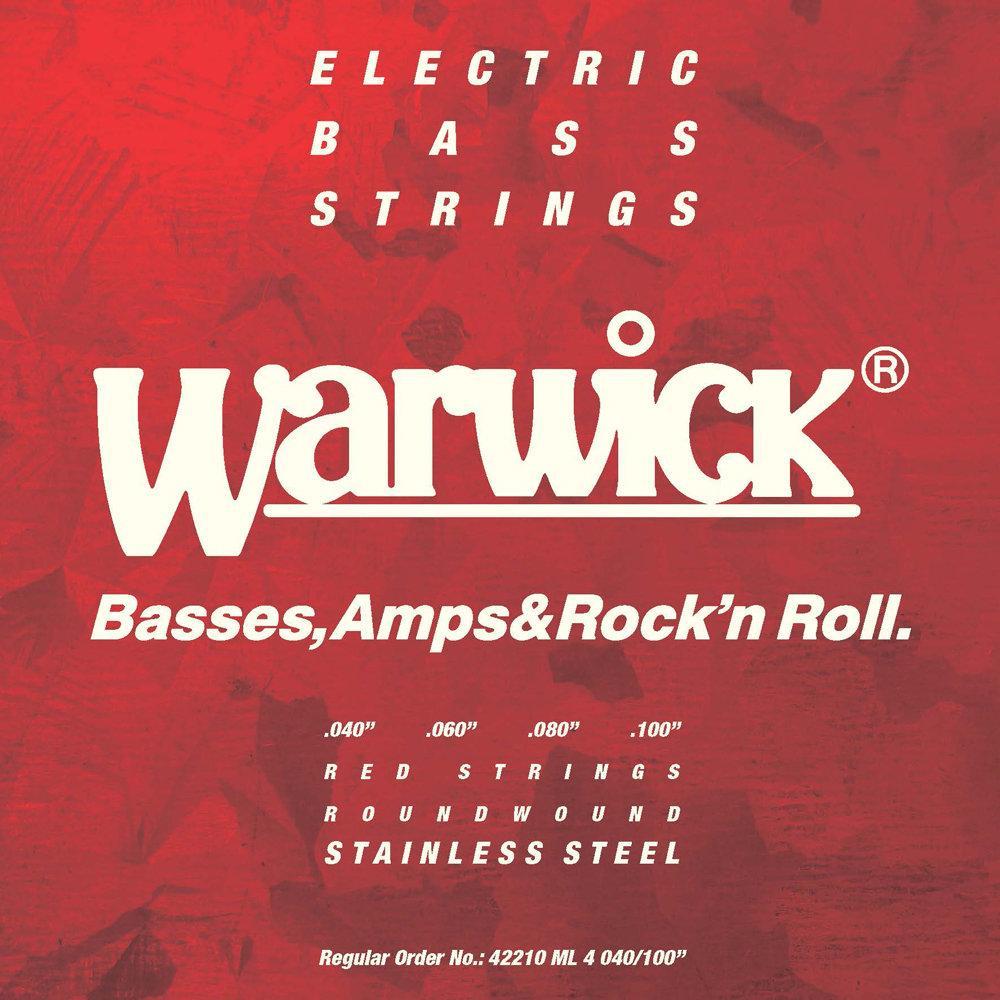 Струны для бас-гитар WARWICK 42210 RED Stainless Steel Medium Light 4-String (40-100)