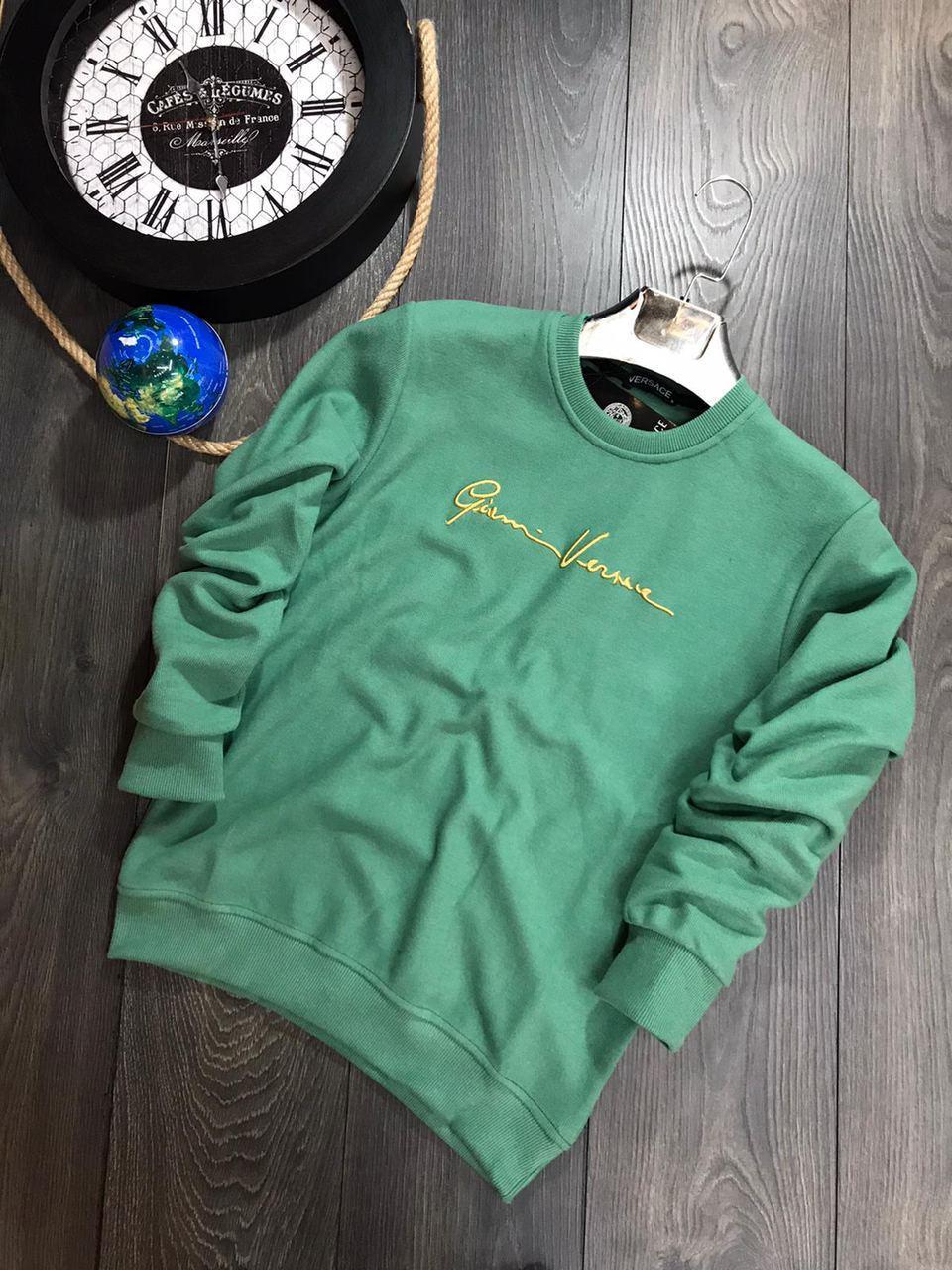 😜 Свитшот - Мужской брендовый свитшот Versace зеленая