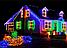 Гирлянда кристал двухцветная лампа 100LED 9м Микс, Новогодняя бахрама, Светодиодная гирлянда, Уличная гирлянда, фото 6