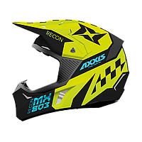 Мотошолом AXXIS WOLF RACON A1 Matt Fluor Yellow, фото 1