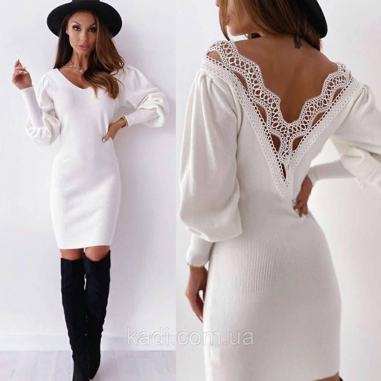 Платье с ажурной спиной / арт.507