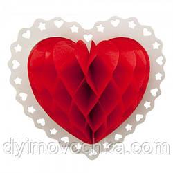 Декор 3D Серце 22см