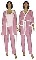 NEW! Дуже красиві, байкові жіночі набори для сну і вдома - серія 18306 Mindal Soft Лілово-рожевий ТМ УКРТРИКОТАЖ!