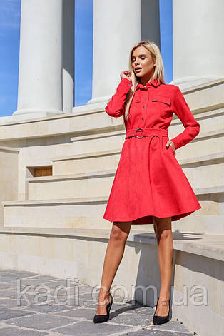 Замшевое платье с поясом / арт.398, фото 2