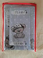 Комплект детского постельного белья в кроватку мишка Тедди Teddy, бязь Голд Люкс, 110х140 см