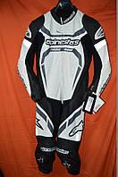 Супер цена для мотокомбинезона Alpinestars MOTEGI LEATHER SUIT 50 размера белого цвета