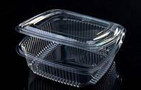 Одноразовый контейнер для еды 250мл с крышкой FT 208-250 11х11х4,5см 100шт. РЕТ