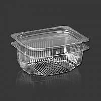Одноразовый контейнер для еды 500мл с крышкой ПС-170 + ПС-17 11,5*10*5,8см 600шт.