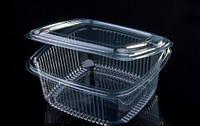 Одноразовые контейнеры для еды с крышкой 500 мл 100 шт 12х13,5х6,5 см