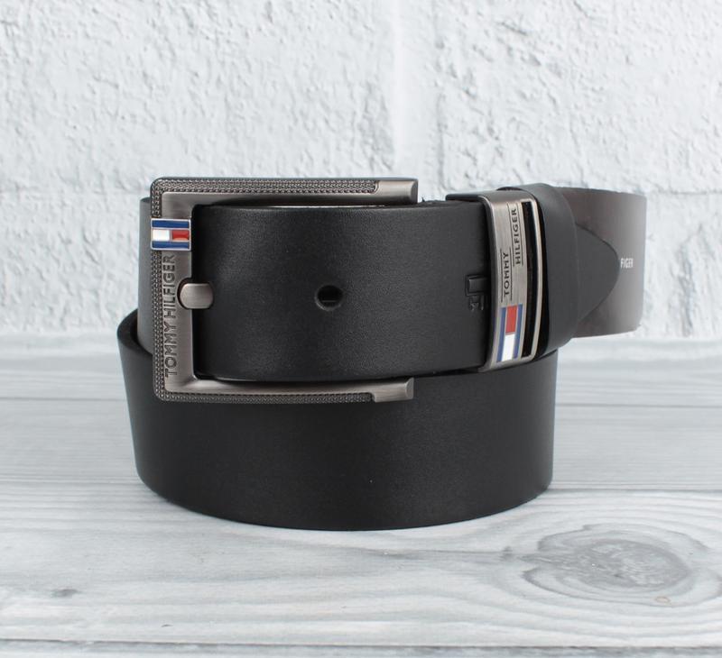 Ремень кожаный под джинсы черный 8208-408