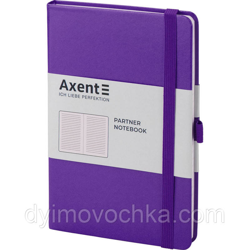 Записная книга блокнот Axent Partner 125x195мм 96л линия,фиолетовый (8308-11-A)