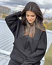 Теплий жіночий костюм на флісі з великою кишенею, фото 2