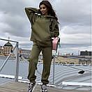 Теплий жіночий костюм на флісі з великою кишенею, фото 3