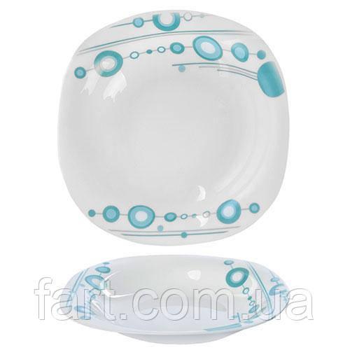 """Тарелка стеклокерамика суповая квадрат 9"""" (22.9см) 6шт/наб """"Модерно"""""""