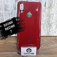 Силиконовый чехол для Xiaomi Redmi 7 Glossy Logo