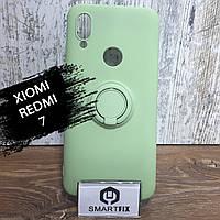Силіконовий чохол для Xiaomi Redmi 7 з магнітом і кільцем